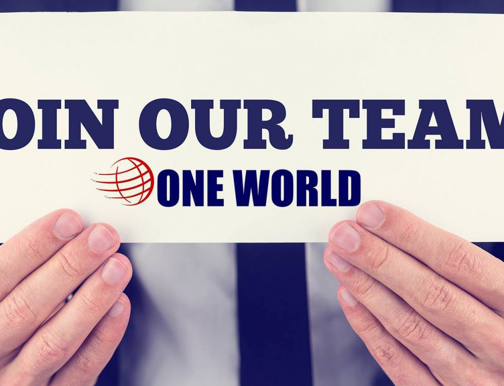 Join the ONE WORLD team!